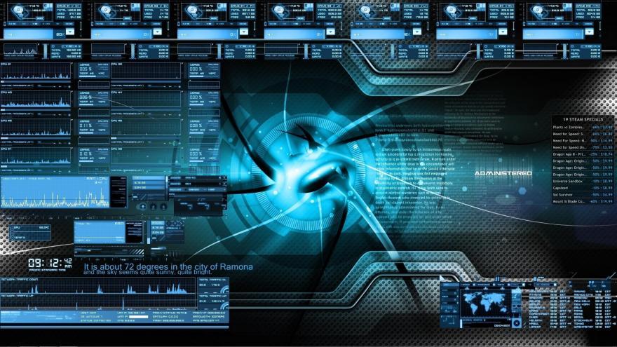 terminal-interface-design-rainmeter-bluevision